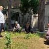 Tarihi Cami'de Çiçek Dikimi Yapıldı