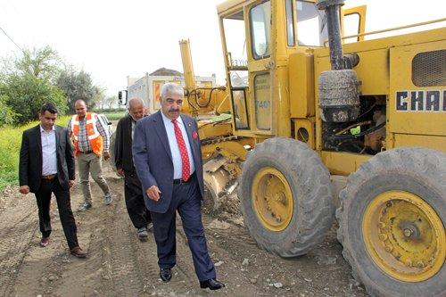 Başkanımız Işıklı Köyündeki Yol Çalışmalarını Denetledi