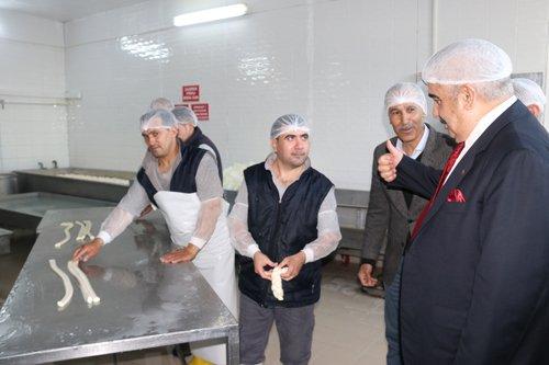 Başkanımızdan Süt Ürünleri Tesislerine Ziyaret