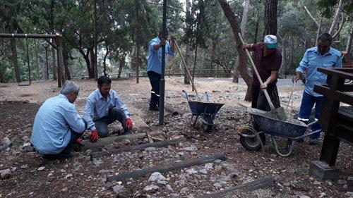 Manastır Piknik Alanında Bakım ve Onarım Çalışmaları