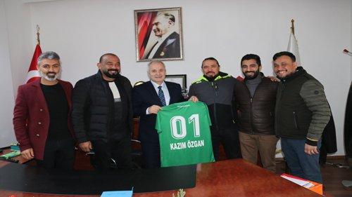 Kozan Spor Futbol Kulübünden Başkan Özgan'a  ziyaret
