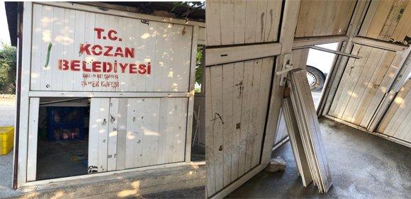 Kozan'da Ekmek Büfelerine Zarar Verildi