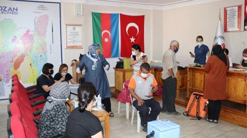 Kozan Belediyesi'nde aşılama