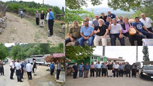 Başkan Özgan Kırsal mahallelerdeki gezileri sürdürüyor